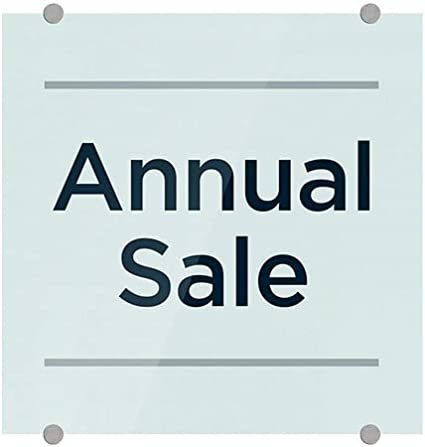 CGSignLab Annual Sale Basic Teal Premium Acrylic Sign 16x16