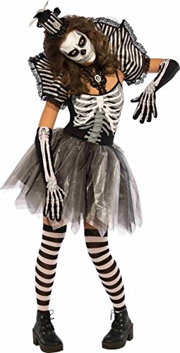 Rubie's Women's Dancing Skeleton Costume, Multi, X-Small (Skeleton Zombie Adult Plus Costumes)