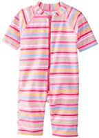 i play. Baby One Piece Swim Sunsuit, Pink Multi Stripe, 6 Months