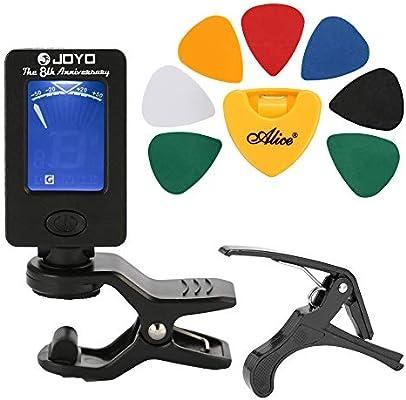 Cshine Guitar Tool Kit Tuner Cabeza Púa Holder 7 púas Accesorios ...