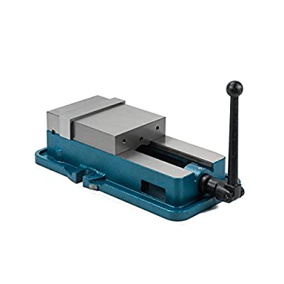 CO-Z Precision Milling Vise 6 Inch ACCU Lock Vise Milling Drilling Machine Lock Down Vise Bench Clamp Clamping Vice with 6 Inch Jaw Width Without Base