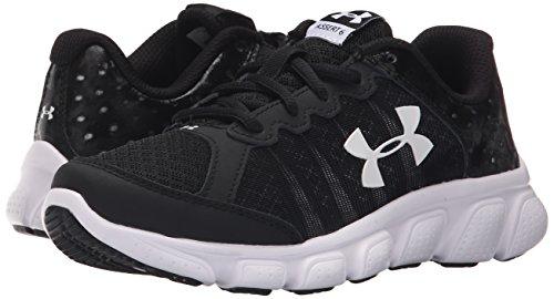 889362256306 - Under Armour Boys' Pre-School Assert 6 Running Shoes, Black/White V1, 3 carousel main 5