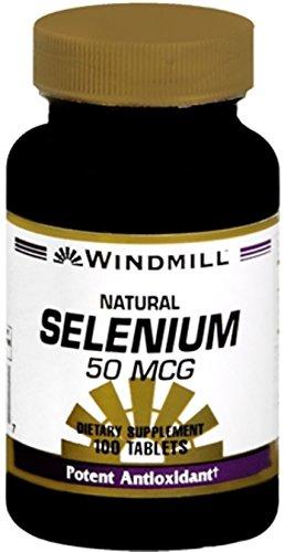 Windmill Selenium 50 mcg Tablets Natural 100 Tablets (Pack of 3) (Tablets 50 Mcg Selenium)