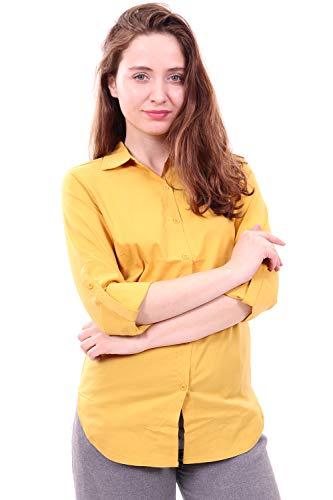 - WuhouPro Womens Super Stretch Blouse Shirts AZ 5000 Yellow XXL
