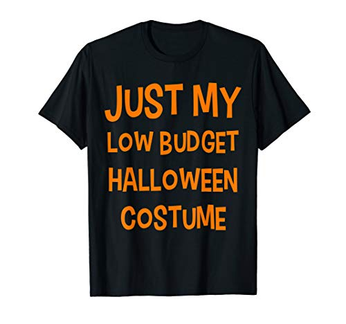 Funny Party Joke Just My Low Budget Halloween Costume T-Shirt