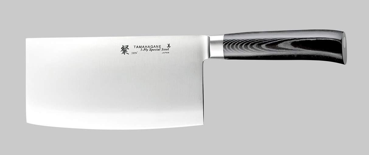 Tamahagane Tsubame Mikarta Stainless Steel Chinese Knife, 7-Inch by Tamahagane