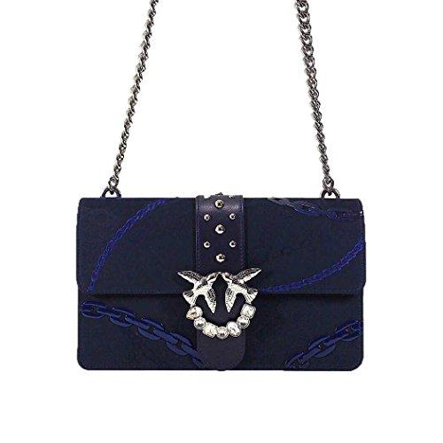 19e6d659f008b PINKO Damen Accessoires Love Bag Tasche Blau Jacquard FrühlingSommer 2018