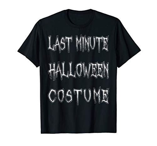 Mens Last Minute Halloween Costume T-Shirt Funny Halloween Party Small Black ()