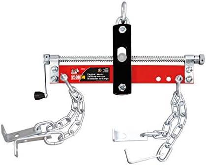 BIG RED T32100 Torin Engine Hoist Shop Crane Accessory: Steel 3 Position Engine Leveler with Adjustable Handle, 3/4 Ton (1,500 lb) Capacity, Red