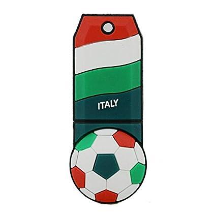 Bandera de Italia de fútbol USB Flash Drive 8 GB, Memory Stick ...