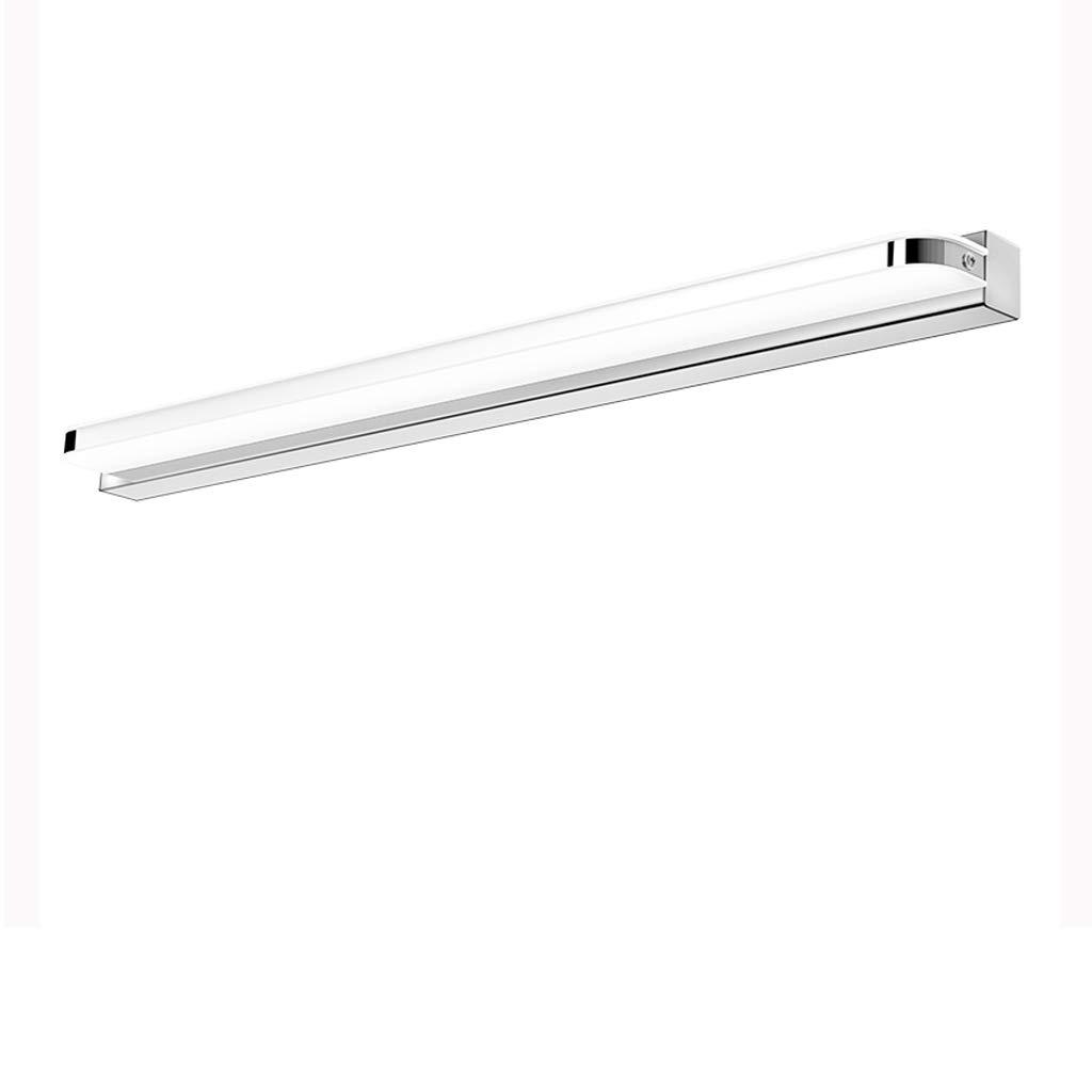 Wddwarmhome Edelstahl führte Spiegel-Licht-wasserdichte Nebel-Badezimmer-Spiegel-Lampen-Wand-Lampe einfach und modern ( Farbe   weißes Licht-40cm 7W )