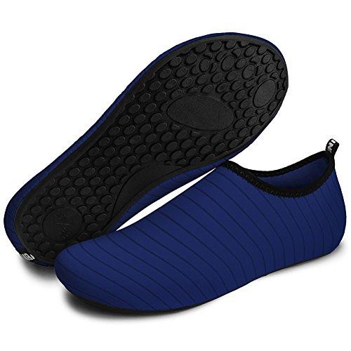 Barerun Barfuß Quick-Dry Wasser Sportschuhe Aqua Socken für Schwimmen Beach Pool Surf Yoga für Frauen Männer Blau