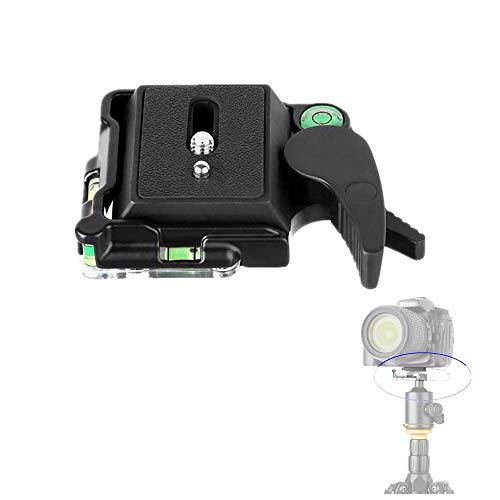 KINGJOY Camera Aluminum Quick Release Plate,BB-20 Aluminum Quick Release Plate QR Plate Adapter 1/4