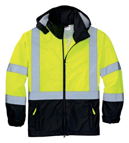 Work Jacket Cornerstone - Cornerstone CSJ25 ANSI Class 3 Safety Windbreaker - Safety Yellow/Black - L