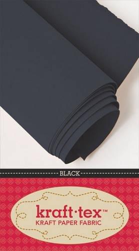 """kraft-tex® Bolt 19"""" x 10 yards, Black: Kraft Paper Fabric"""