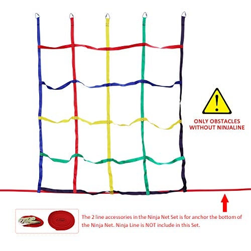 (Rainbow Craft Colorful Ninja Climbing Net - Multicolored)