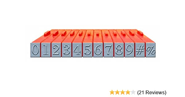 Amazon com: Mason Row XL-58021 12-Piece Numbers Clickable Bodoni