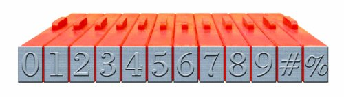 Mason Row XL-58021 12-Piece Numbers Clickable Bodoni Font Stamp (Line Stamp Sets)