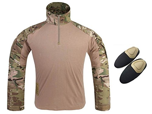 ATAIRSOFT Tactical Military Emerson Gen3 G3 Men Long Sleeve Shirt With Elbow Pads MC CP (M)