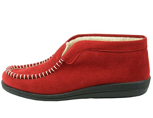 217643 And Fleece Rouge Fur Medoc Lined Rohde Femme Chaussons dqxBt