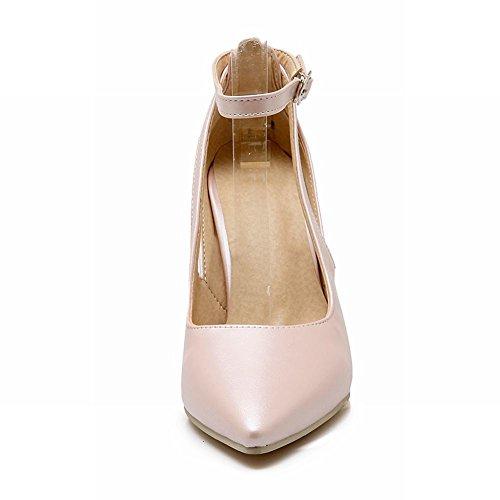 Pied De Charme Femmes Haut Talon Mary Jane Pompe Chaussures Rose