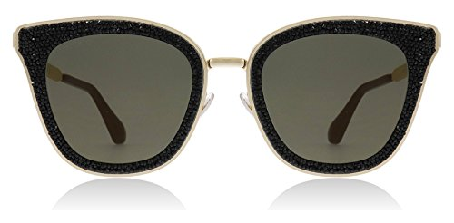 Jimmy Choo Women's Lizzy/S Black/Gold One Size