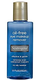 Neutrogena Cleansing Oil-Free Eye Makeup Remover, 5.5 Ounce (Pack of 3)