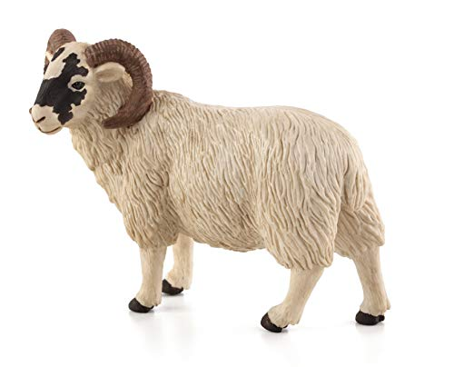 (MOJO Black Faced Sheep (Ram) Toy Figure)