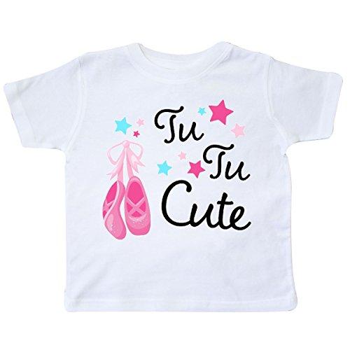 inktastic Tu Tu Cute- Ballet Dancing Shoes Toddler T-Shirt 3T White
