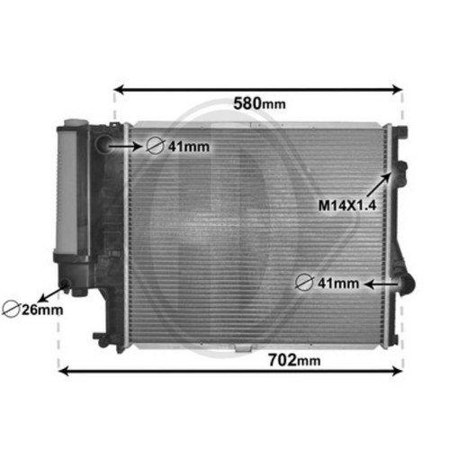 Diederichs DCM1550 Radiator, radiator: