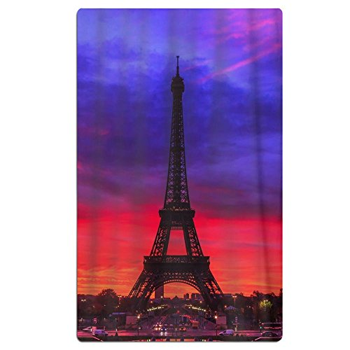 Paris France Eiffel Tower Purple Quick Dry Antibacterial Lig