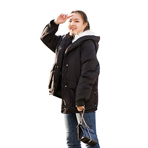 épais en tailles option occasionnel féminin vestes de plusieurs taille d'hiver long XL cou avec longue noir Manteaux blanc veste xxxxxl fourrure zfYBw