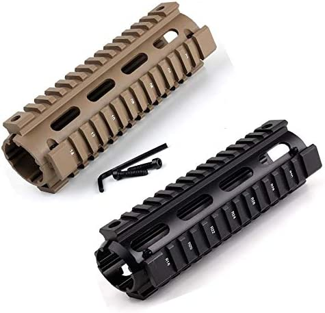 Black Aluminum 6.7 Inch Length Guard Rail Mount For Airsoft Hunting Mount