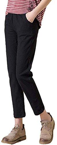 製造変化速報DeBangNi レディース クロップドパンツ 七分丈 夏服 綿麻 薄手 ハロンパンツ サルエルパンツ 無地 調整紐 シンプル カジュアル ワイドパンツ ゆったり コンフォート 韓国風 ファッション
