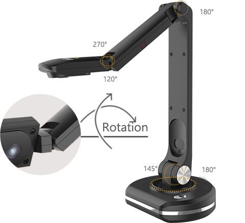 JOYUSING Document Camera V500-S, with Zoom   Auto-Focus and Dynamic Capturing   Flexible & Durable Arms   Suitable for Home