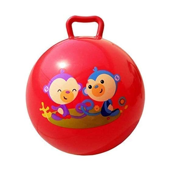 WEIRVI Jumping Hopping Bouncing Inflatable Sit and Bounce Hop Ball for Kid's (Multi-Color, 3 to 6 Years)
