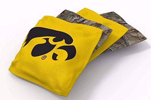PROLINE 6x6 NCAA College Iowa Hawkeyes Cornhole Bean Bags - Real Tree Design (B)