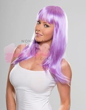 Larga luz púrpura lila violeta peluca - Katie estilo Perry