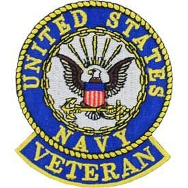 """USN, United States Navy Veteran - Embroidered Patches, Premium Quality Iron On Patch - 3"""""""