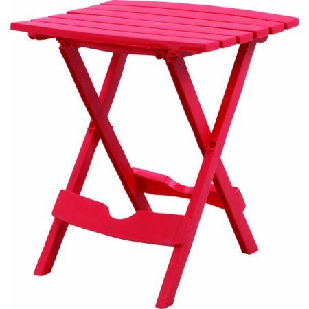 Adams manufacturing quik fold side table cherry red for Adams manufacturing chaise lounge