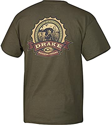 Drake Waterfowl Dt2060 Mens Bottle Cap Short Sleeve Tee Shirt