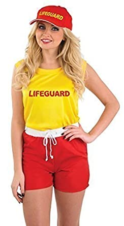 8f7fb4746f77 Ladies Lifeguard Emergency Services Fancy Dress Costume Outfit 8-22 Plus  Size (UK 16-18)  Amazon.co.uk  Clothing