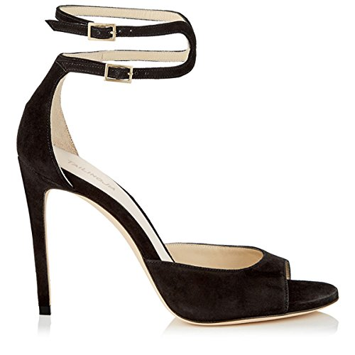 Europa Der Shoes hochhackige Präsident Walking Comfort Sandalen black Sandalen Sandalette Sandals hochhackigen schwarze Shoes Sandalen Women's Damen Damen Sandalen qInfw7P1nR