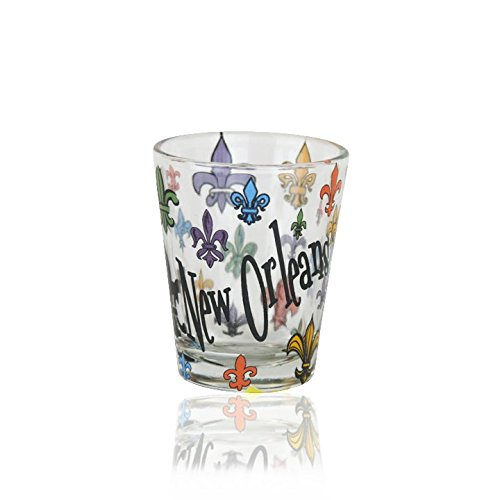 Fleur de Lis Shot Glass - Bourbon To Street Street Canal
