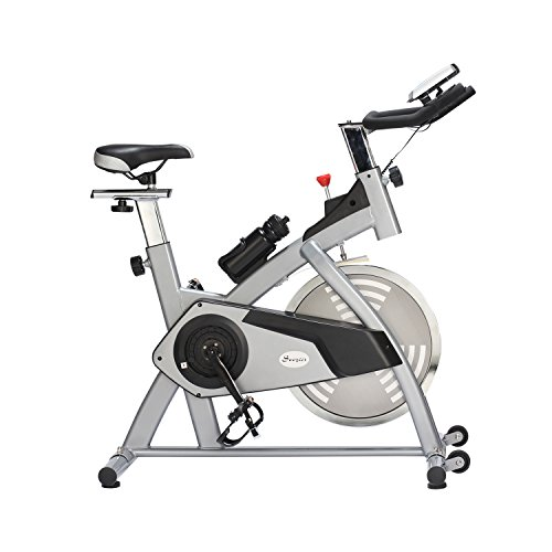 Soozier Upright Stationary Exercise Bike W Lcd Monitor
