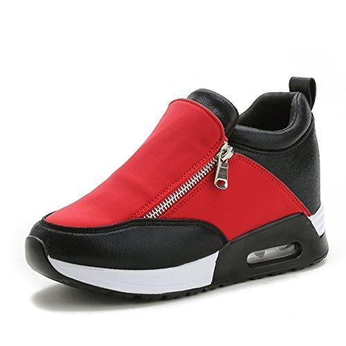 Plataforma Los Otoño De Zapatos Versión De Coreana Mujer Zapatos XIAOLONGY Cojín Dentro Cremallera Casuales Zapatos Invierno La Zapatos red E Doble Zapatos De RdfHq0