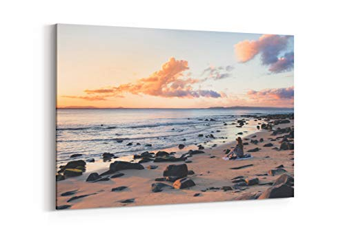 Beach Water Cloud and Outdoor in Noosa Heads Australia - Canvas Wall Art Gallery Wrapped 12