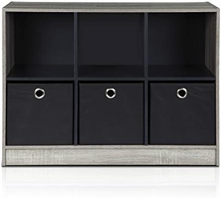 Furinno 99940GYW BK Bookcase Storage