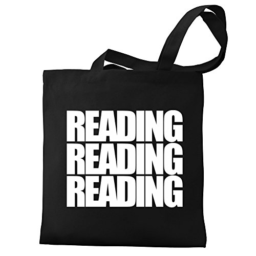 three Tote Bag Eddany Reading words three Reading Eddany Canvas qCB7wqxI0