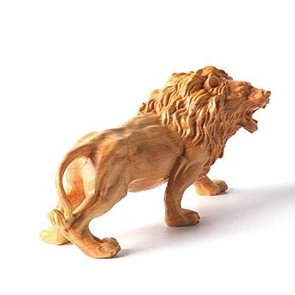Amazon NEWQZ Wooden Figurine Africa Lion King Home Decor